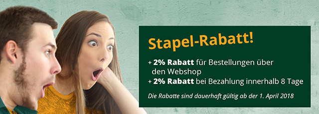 Stapel-Rabatt bei Bergh Special Products ab 1 April 2018